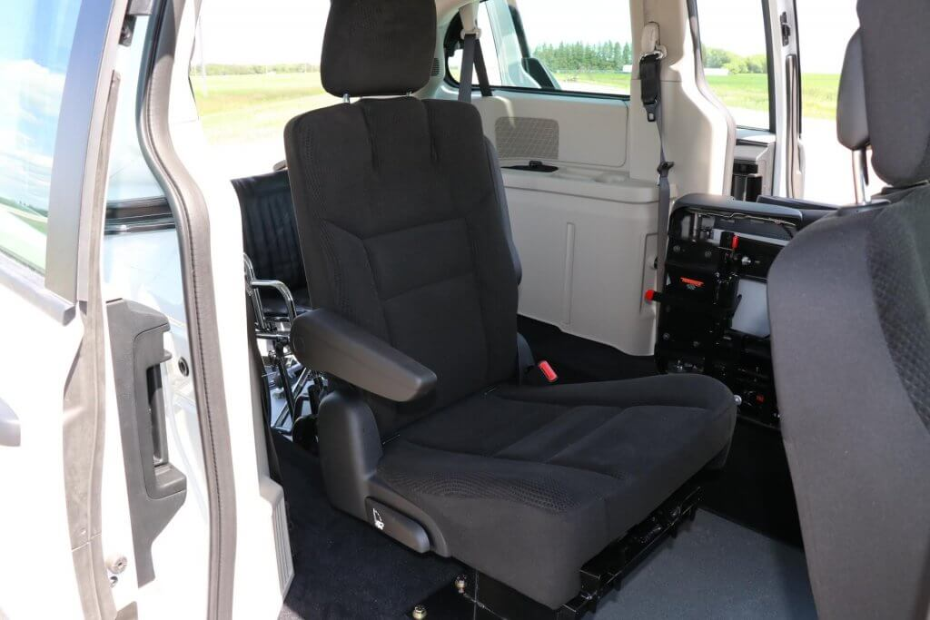Rear Entry Dodge Grand Caravan with Flip & Fold Seats