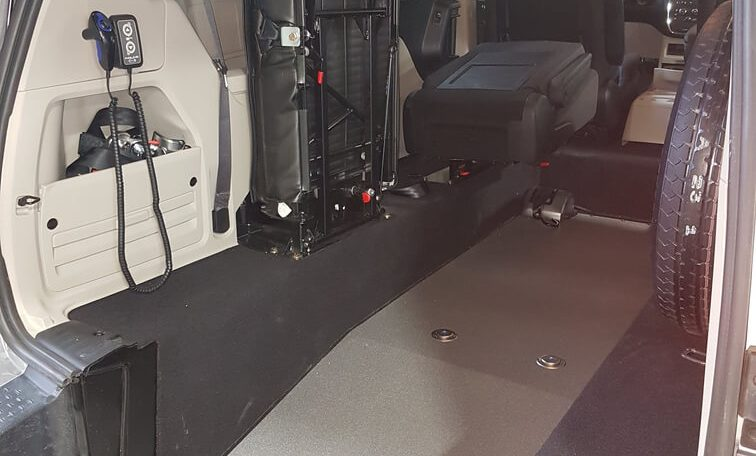 wheelchair positions 2017 Rear Entry Dodge Grand Caravan SXT with InQline System