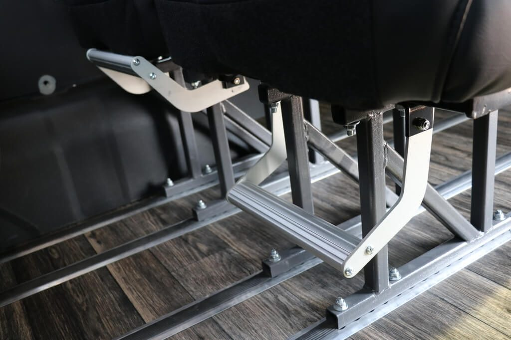 MoveMobility Executive Style Shuttle adjustable foot rests