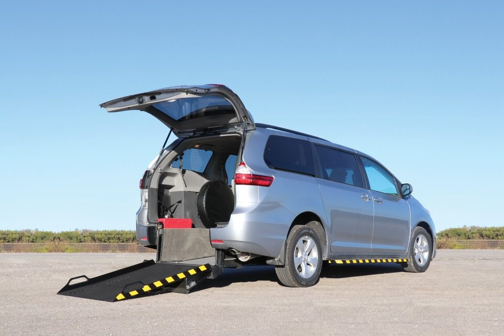 Toyota Sienna for wheelchair accessible taxi use