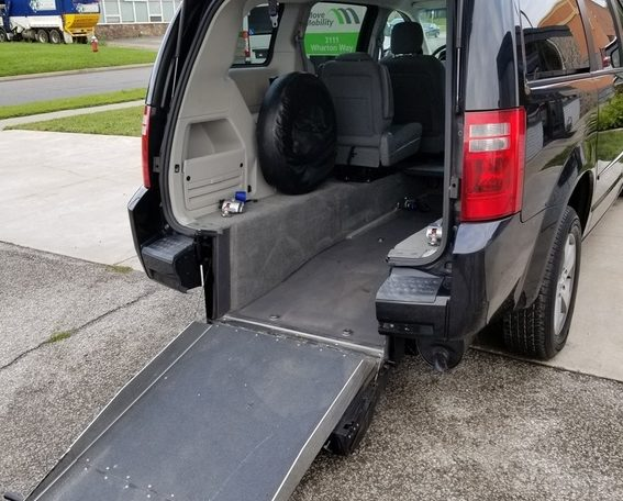 van with rear entry wheelchair access