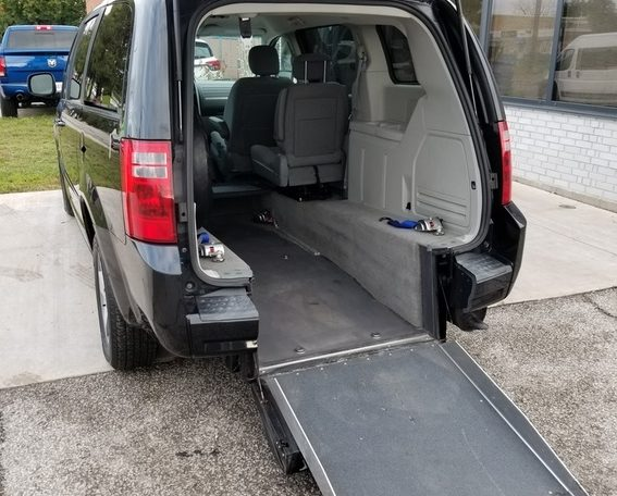 wheelchair van 2009 rear entry dodge caravan
